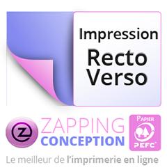 Impression De La Carte Visite Sur Les 2 Faces Recto Et Verso En Quadrichromie CMJN Avec Une Conversion Pour Le Mode RVB Imprime