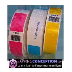 bracelet indéchirable pas cher avec numérotation