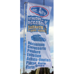 exemple de drapeau pour garage automobile