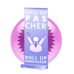 Commander par internet un roll-up au meilleur prix