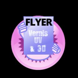Flyer de luxe haut de gamme avec vernis sélectif ou vernis 3D