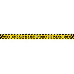 bande au sol 1 mètre de distance