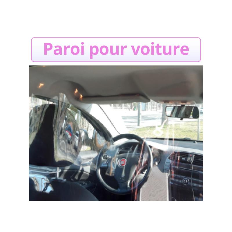 Séparation transparente véhicule passager conducteur