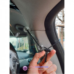 Séparation en plastique transparent pour voiture COVID coronavirus