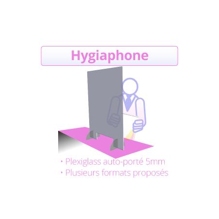 Paroi de protection - hygiaphone - à Bordeaux vitre