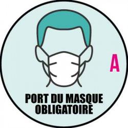 """autocollant pour vitrine """" Port du masque obligatoire """" A"""