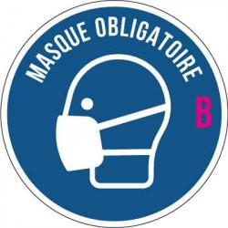 """Autocollant adhésif pour vitrine """" Port du masque obligatoire """" B"""