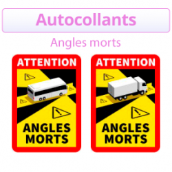 Commandez des autocollants angles morts