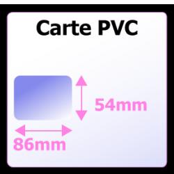 Impression carte de visite en plastique PVC
