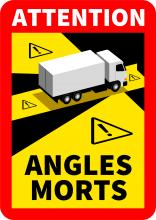 Autocollants Angles morts pour camion - pas cher